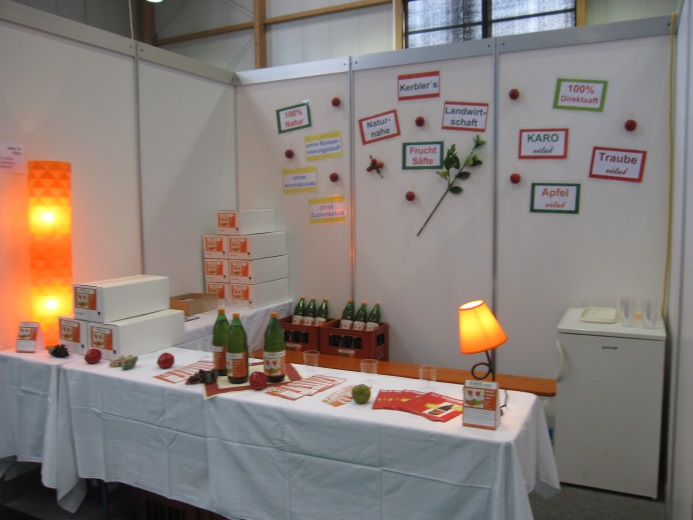 Bild vom Messestand in Ried