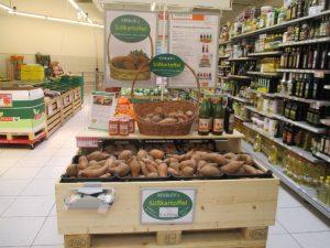 Kerblers Süßkartoffeln bei EuroSpar Stockerau, Korneuburg, Retz und Eggenburg
